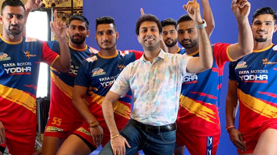 Video shoot with Pro Kabaddi team 'UP Yodha'