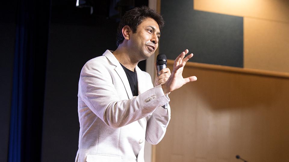 keynote speaker at event by josh talks for tiktok india