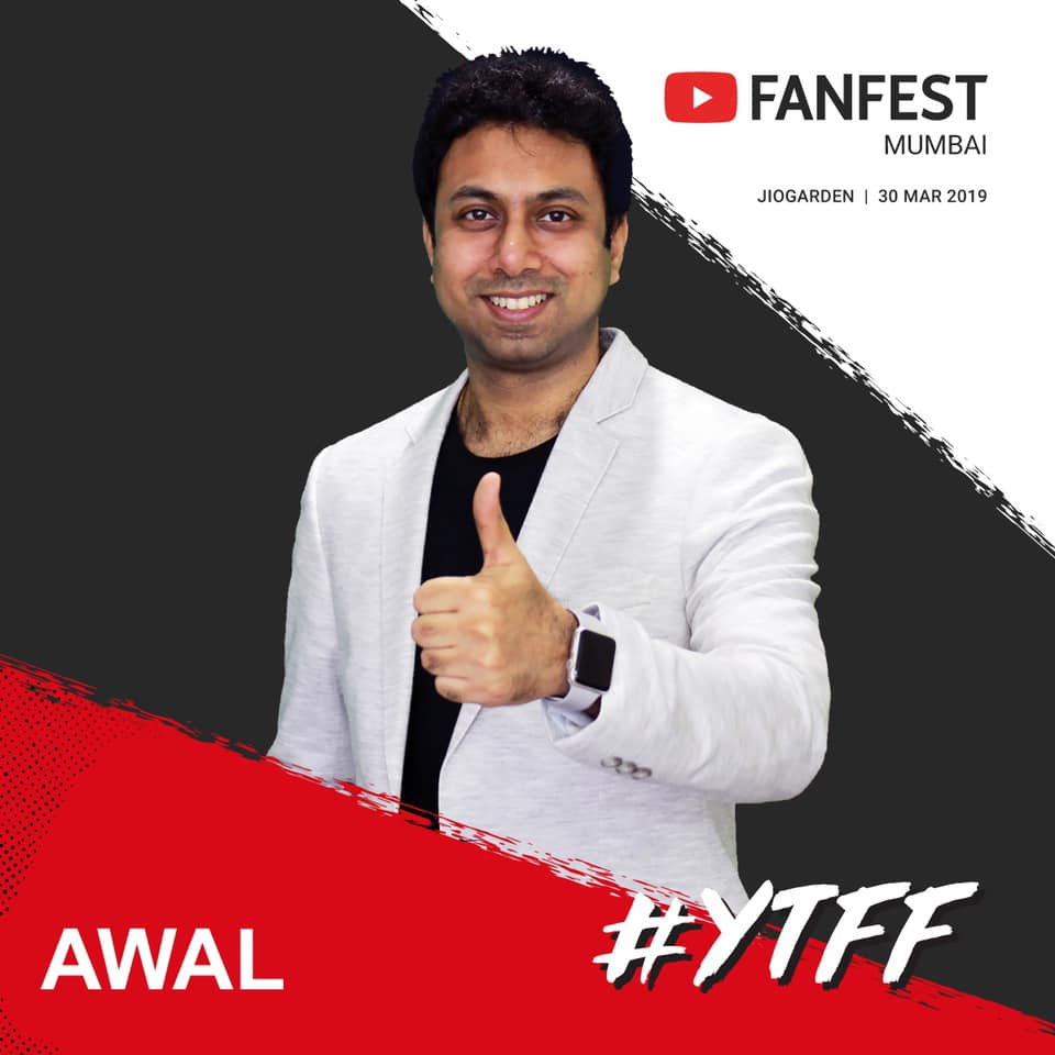 Red Carpet at Youtube FanFest Mumbai 2019.