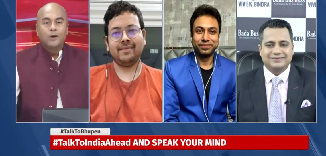 Panel Discussion On India Ahead TV Channel
